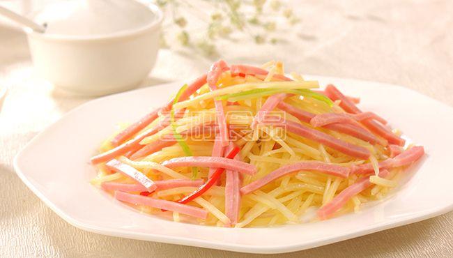 喜旺烤肠炝土豆丝