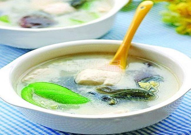 营养餐之喜旺皮蛋丝瓜汤