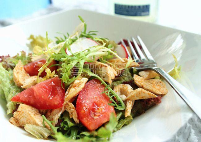 营养餐之喜旺鸡肉沙拉