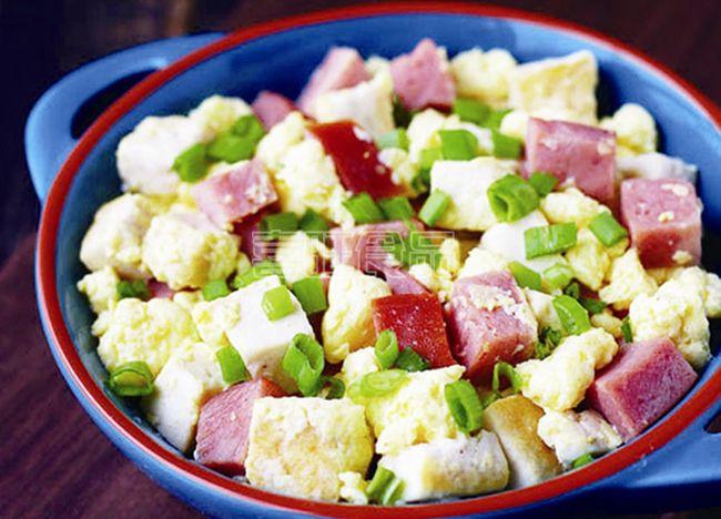 营养餐之喜旺大肉块火腿炒豆腐