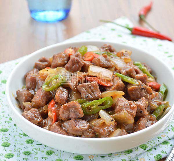喜旺营养餐之黑椒牛肉丁